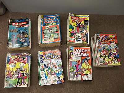 lot of (50) copper bronze kids comics mostly archie with harvey disney .50-.95
