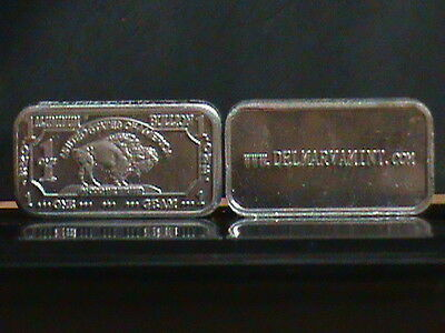 Lot of 5 1 gram ALUMINUM buffalo bullion bar .999 pure
