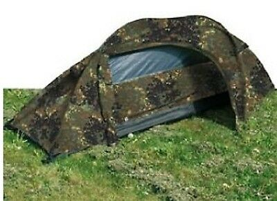 One Person Army RECON Military Outdoor Einmannzelt Zelt Bundeswehr Flecktarn