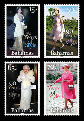 Bahamas 2016 Queens 90th Birthday 4v set MNH