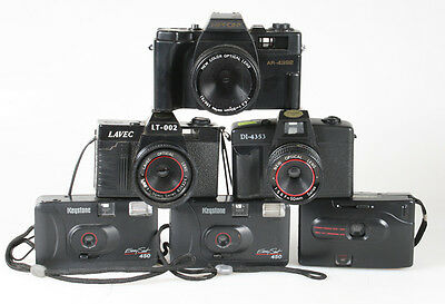 Point And Shoot Film Camera Lot Of 6