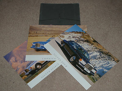 Rolls Royce Silver Spur, Spirit and Corniche Brochure Full English Text
