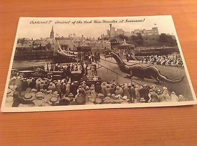 R/P Postcard  - Captured !! Arrival of The Loch Ness Monster at Inverness.