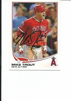 Mike    Trout    Angels         Autographed    Card