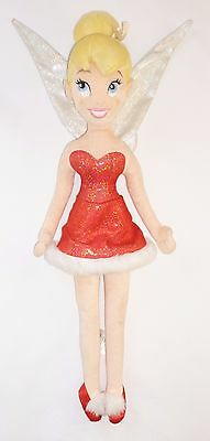 "Tinker Bell ~ Festive 22"" Soft Toy Doll ~ Disney Store ~ Christmas Tinkerbell"