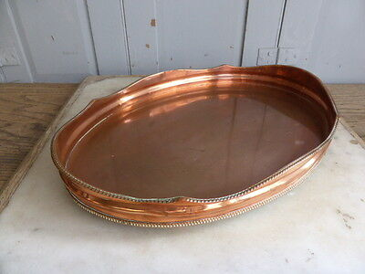 Antique copper serving tray