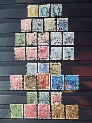 AUSTRO-HUNGARIAN PO's IN THE LEVANT :- 1867 - 1908 : Mint & Used.