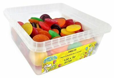 Tubs Tuck Shop Happy Smiles Sweets Box Party Favours Treats Discount Candy
