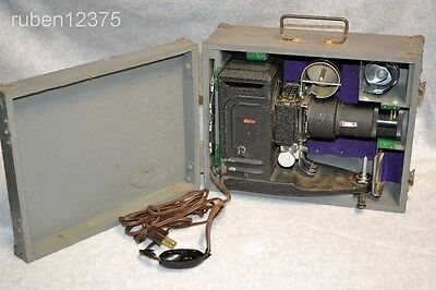"Antique Roll Film Slide Projector w/5"" Anastigmat Series O Projection Lens w/Box"