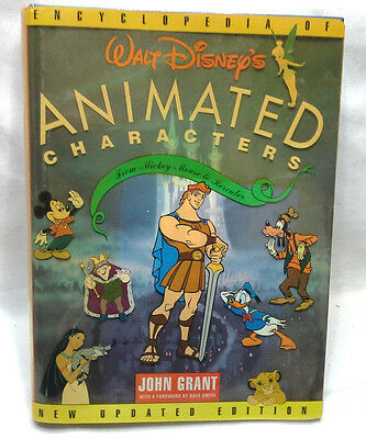 Walt Disney Animated Characters Book 1998 Very Heavy Hard Cover