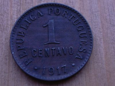 High grade , PORTUGAL , 1 Centavo 1917 , Nice coin ........................ CF10