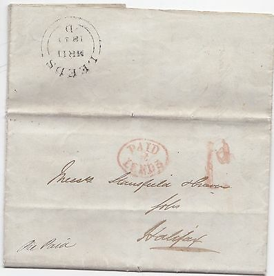 1840 Paid At Leeds Law Society Letter John Hope Shaw To Stansfield At Halifax
