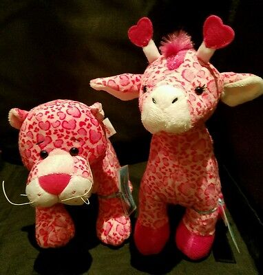 LOT of 2 Webkinz: JAN. SEASONAL RELEASE  LOVE GIRAFFE   +  LOVELY LEOPARD -NWT