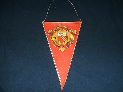 MANCHESTER UNITED FC 1960s Pennant
