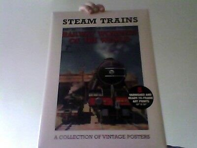 Steam Trains A Collection Of Vintage Posters 8 12X16 Prints Fast Despatch /deli