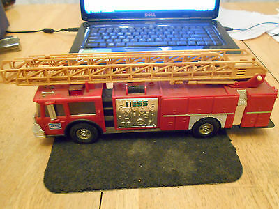 Vintage 1986 HESS Red Toy Bank Fire Ladder Truck