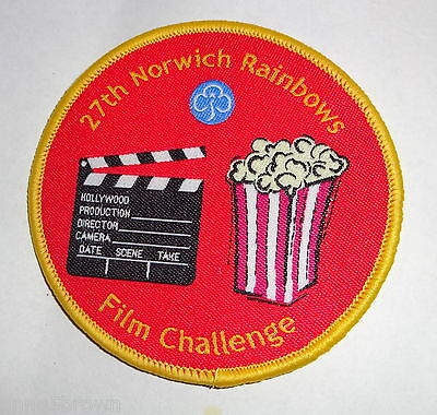 Uk Girl Guides: Mint 27Th Norwich Rainbows Film Challenge Badge/patch