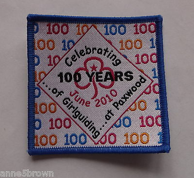 Mint Celebrating 100 Years Of Girlguiding At Paxwood Badge/patch ~ June 2010