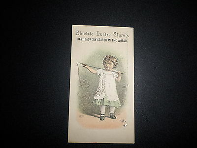 1880's Electric Lustre Starch Victorian Trade Card