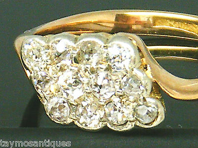 Antique 18k gold 18ct  gold  0.50ct old mine cut diamond ring size N