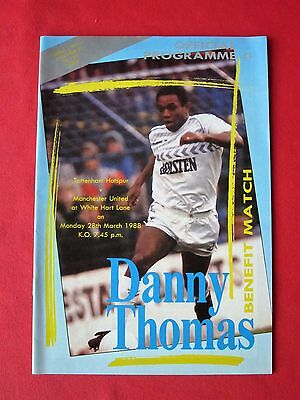 Tottenham v Manchester United football programme - Danny Thomas benefit 1988