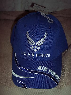 Embroidered U.S. Air Force Baseball Hat Adjustable CAP Blue New