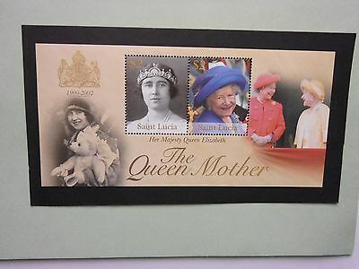 ST LUCIA: 2002 Queen Mother Commemoration Sheet MNH MS1269