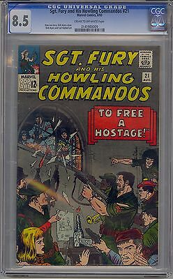 Sgt. Fury And His Howling Commandos #21 Cgc 8.5 Off-White Pages Marvel
