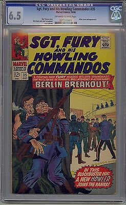 Sgt. Fury And His Howling Commandos #35 Cgc 6.5 Off-White To White Pages Marvel