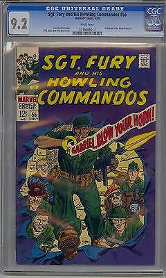Sgt. Fury And His Howling Commandos #56 Cgc 9.2 White Pages Marvel