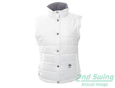 New W/ Logo Womens Sun Mountain Golf Alpine Reversible Vest Large White MSRP $99