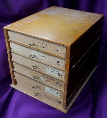 Letterpress Printing Adana Wooden Sectional Typecase Cabinet and 6 small drawers