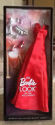 Barbie Collector Look On Red Carpet Black Label Fashions Gown Dress Outfit NRFB