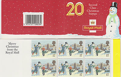 GB 1990 barcode Christmas booklet 20 x 17p,  SG LX1
