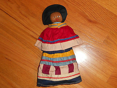 Vintage Seminole Indian,palmetto Fibre,hand Crafted Doll