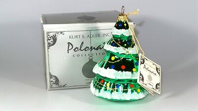 New In Box Kurt Adler Polonaise Christmas Tree Collection Ornament W/tag