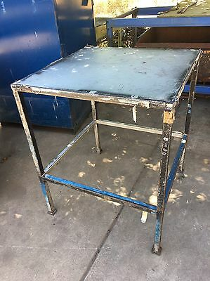 Industrial Steel Bench Table