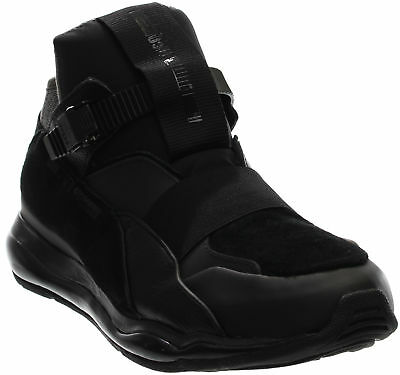 PUMA X ALEXANDER McQueen Cell Runner Mid Sneakers- Black- Mens 13791dae0