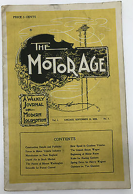 1899 The Motor Age Auto Journal, Brochure, Catalog, Pamphlet 23 Pages FC *1
