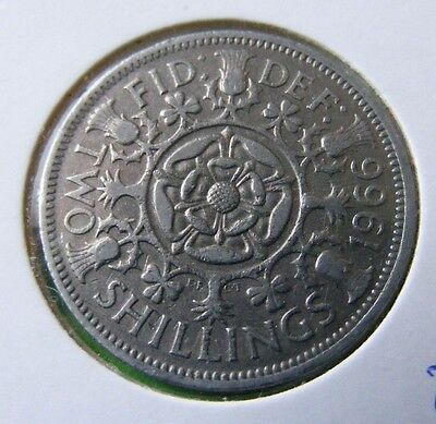 British Two Shillings Or Florin Coin Minted 1966 - Lot#5512