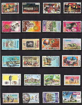 KENYA Used Stamp COLLECTION QEII circa 1980 REF:QE104
