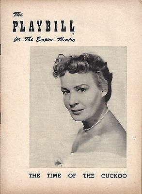 """Shirley Booth """"TIME OF THE CUCKOO"""" Arthur Laurents 1952 Broadway Playbill"""