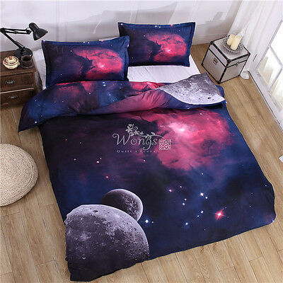 Galaxy Duvet/Quilt Cover Set Double Bed Size Pillow cases Doona Covers