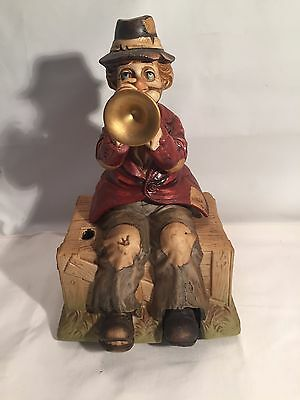 VINTAGE Waco Melodies In Motion Willie The Hobo Musical Clown Trumpet Player