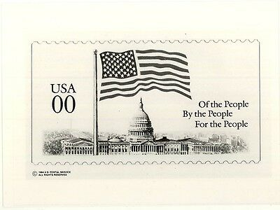 """Flag Over Capitol"" Booklet Stamp Zero-Value Photo Essay with Press Release"