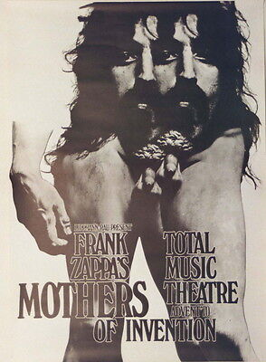 Frank Zappa Mothers Of Invention Concert Tour Poster 1970 Kieser