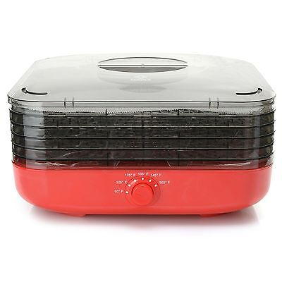 Cook's Companion Turbo Dehydrator w/5 Stackable Trays & 2 Herb Screens Brick NEW