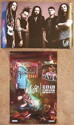 KORN Album POSTER The Serenity Of Suffering 2-Sided 11x17