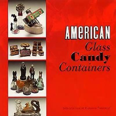 Antique Glass Candy Container Book Trains Auto Holiday