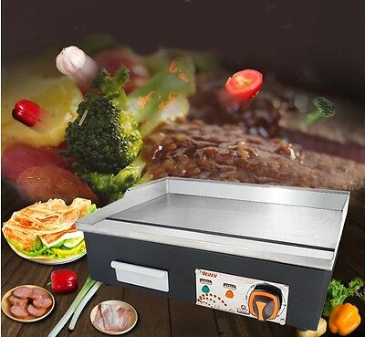 Commercial 3000W Grill Countertop Hot Plate BBQ Stainless Steel Electric Grill *